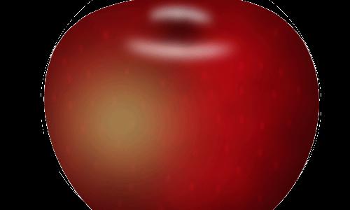 رسم تفاحة بالفوتوشوب