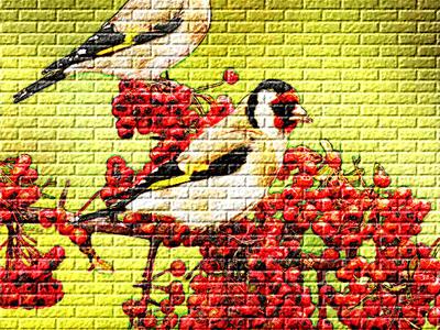 تحويل الصورة الى رسمة على الجدار