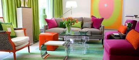 غرف معيشه بالوان مبهجه