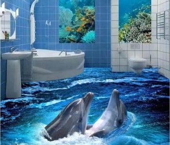 سيراميك ارضيات حمام 3 دى