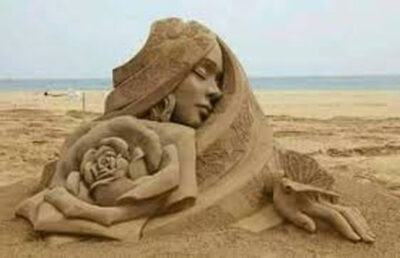 فن النحت على الرمال