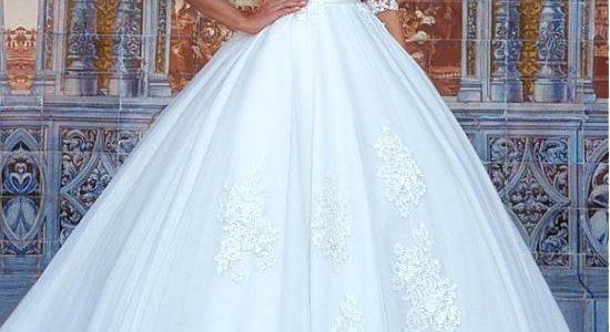 ارقى موديلات فساتين الزفاف والخطوبة2020