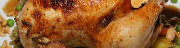 دجاج محشي بالفريك والكبدة