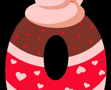 سكرابز ارقام الحلوى